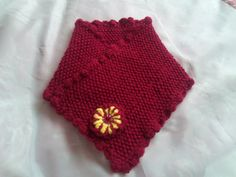 Neck Collar Hand Knitted Claret Scarf For by Ladydarinefinecrafts