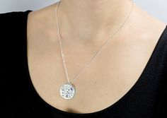 Blue Moon  Sterling Silver 925 Pendant with Diamond cut sapphire stone.