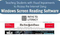 Lessons to teach students who are blind or visually impaired to access the internet using screen reading software