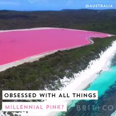 Obsessed with all things millennial pink? Then this naturally pink lake needs to be at the top of your travel checklist. Obsessed with all things millennial pink? Then this naturally pink lake needs to be at the top of your travel checklist. Vacation Places, Vacation Destinations, Dream Vacations, Family Vacations, Italy Vacation, Cruise Vacation, Disney Cruise, Family Travel, Beautiful Places To Travel