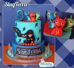 2 tier Slugterra Cake