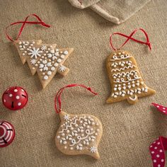 Gingerbread Christmas Tree Decorations Set Of Three Gingerbread Christmas Tree, Gingerbread Decorations, Gingerbread Man, Christmas Tree Decorations, Gingerbread Cookies, Christmas In Heaven, Christmas Home, Christmas Crafts, Christmas Ideas