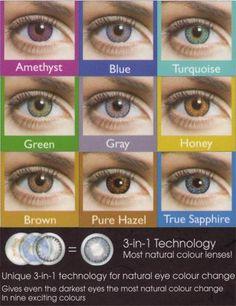 225619fca0 Freshlooke Colorblends Color De Ojos, Uñas Azules, Usando Lentes, Lentes De  Contacto,