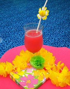 Yummy looking pool party drink