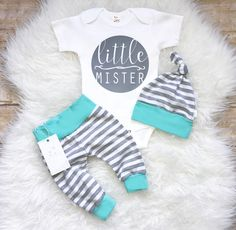 Coming Home Baby Boy Outfit Newborn Boy Clothes Aqua Grey Stripes Baby Boy Leggings Top knot Hat Baby Shower Gift by LLPreciousCreations on Etsy Newborn Baby Boy Gifts, Newborn Boy Clothes, Cute Baby Clothes, Newborn Onsies, Newborn Boys, Babies Clothes, Baby Boy Leggings, Boy Shorts, Baby Pants