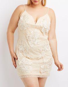 511a084a755e #PlusSize #Lace & Crochet #BodyconDress | #CharlotteRusse #Holiday  #HolidayDress