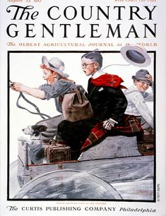 "Norman Rockwell's first cover for ""The Country Gentleman."""