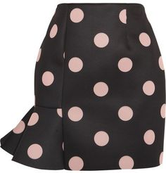 Finds + Vivetta Eva polka-dot neoprene mini skirt on shopstyle.com