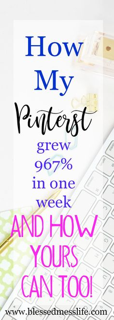 How my pinterest grew 967% in one week, and how yours can too!  With these simple steps you can have massive growth in your pinterest! #pinterest #marketing #onlinebusiness