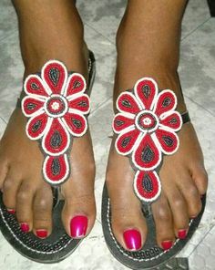 Beaded one bead at a time to capture the soul and spirit of the Masai people and of Mama Africa Shoes Flats Sandals, Kids Sandals, Summer Sandals, Leather Sandals, Women Sandals, Gladiator Sandals, Beaded Shoes, Beaded Sandals, Mens Flip Flops