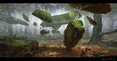 ArtStation - Lifted stones, Jakub Javora