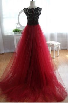 dark red and black formal dresses - Google Search