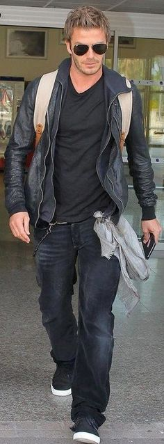 :) Casual perfection (attitude).. layers. Hair, shades, tones jacket, tee, hip chain, jeans and shoes