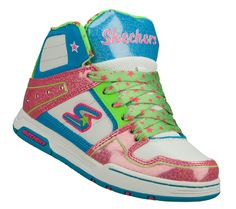 Got to love Skechers. They almost look good enough to eat! These sneakers are so busy, for a little less bling, throw in a pair of plain white shoe laces. Skechers | Girls | Endorse - Spenders