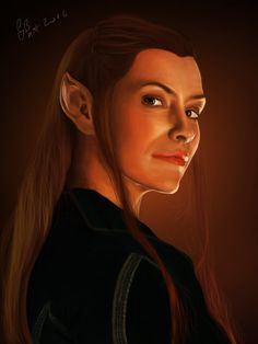 Tauriel from the film trilogy The Hobbit Made in Ps CS6 with Wacom Bamboo Tablet full size: 1990 x 2652 pixels ref image:static.tumblr.com/92f918379c7a… © 2013-2016 GB Art Instagr...