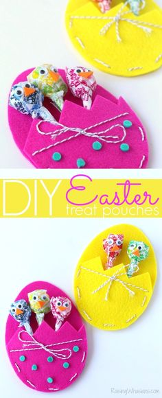 DIY Easter Treat Bags Craft for Kids | Make this adorable and easy Easter treat pouch for holding your favorite Easter treats!