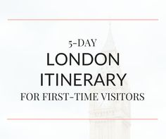 This 5-day London itinerary is perfect for those visiting the city for the first-time. Enjoy the best things to do in London on a budget.