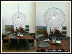 Wire Chandelier Wire Chandelier, Metallic Paint, Lamp Design, Diy Tutorial, Diy Home Decor, Ceiling Lights, Cool Stuff, Tutorials, Play
