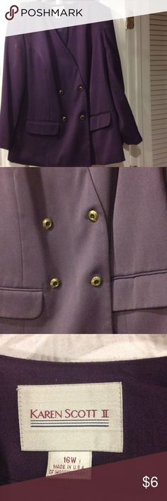 Karen Scott size 16W blazer good condition Karen Scott size 16W blazer good condition Karen Scott Jackets & Coats Blazers