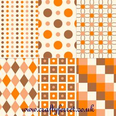 Free Autumn and Fall coloured printable craft backing papers from Crafty Ferret