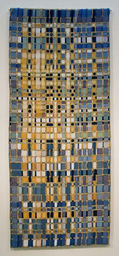 Maria Eugenia Davila & Eduardo Portillo   Guardian   triple weave   silk + moriche palm fiber + wool   dyed with indigo + eucalyptus + cochineal   Venezuela   2006