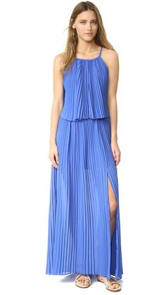 banana republic Pleated-Ombre Midi Dress