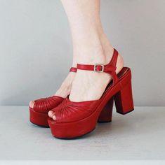 1970s platform shoes | Red Alert platforms