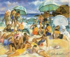 Martha Walter (American Impressionist, 1875–1976) The Bathers 1933, It's About Time: Beach - Waterside