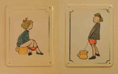 Funny washroom signs. |CutPaste Studio| Art, Artist, Artwork, Entertainment, Beautiful, Creativity,Illustration, Funny, Humor, Washroom Signs, Men, Women.