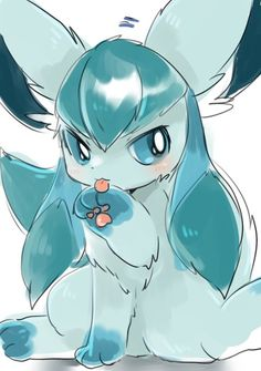 Ah glaceon the cutest ice type Pokemon to exist Pokemon Mew, Evoluções Eevee, Pokemon Life, Eevee Evolutions, Pokemon Fan Art, Bulbasaur, Pet Anime, Anime Kawaii, Kawaii Chan