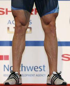 "Sir Chris Hoy's ""oak-sized"" thighs."