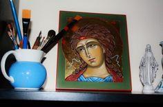 ferdig med Erkeengel Gabriel ikon