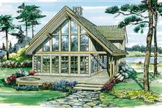 Contemporary Style House Plan - 3 Beds 2.5 Baths 1795 Sq/Ft Plan #47-367 Exterior - Front Elevation - Houseplans.com
