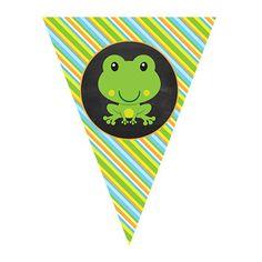 EDITABLE    Frog Pennant Banner    Frog Theme Classroom