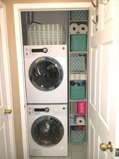 "Fantastic ""laundry room storage diy cabinets"" info is readily available on our internet site. Check it out and you wont be sorry you did. Laundry Room Storage, Closet Storage, Diy Storage, Laundry Rooms, Storage Ideas, Bed Weather, Hanging Clothes, Diy Cabinets, Stacked Washer Dryer"