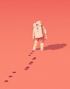 """The Martian"" Art Print by Matt Harrison Clough on Society6."