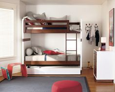 Kids Bedroom, Modern Kids Room Design Ideas For You To Design Your Own Bunk Bed With Gray Rug And White Horizontal Blinds Best Pictures Of Guidance To Design Your Own Bunk Bed: Design Your Own Bunk Bed to Make The Coolest Small Space Bedroom