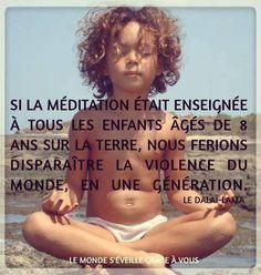 enfants à méditer