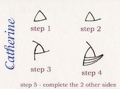 Another way to draw Tri-Po by Catherine Langsdorf CZT
