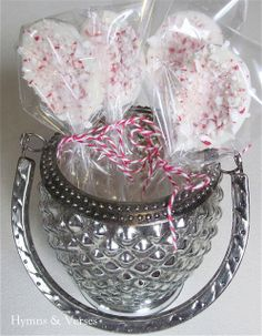 Hot Cocoa Mix and White Chocolate Candy Cane Spoons