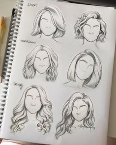 Draw hair How to