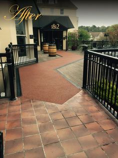 One of our Resin Patios designed for the entrance and outdoor area of 1812 in Bournemouth - Prestige Home Improvements - Resin Driveways - prestige-hi.co.uk