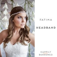 The Yellow Peony's headband features pinched oval shapes that repeat with rhinestones in the center!  Perfect to wear with your hair down or a pony tail  https://www.happilyeverborrowed.com/collections/headbands/products/fatima-headband?variant=19765141957