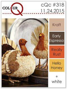 colourQ: colourQ challenge #318...Kraft, Early Espresso, Really Rust, Hello Honey