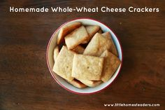 Pantry Revamp: Simple, Homemade, Whole-Wheat, Cheese Crackers