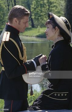 French actress Sophie Marceau as the literary heroine with English actor Sean Bean as her lover Vronsky in the film 'Leo Tolstoy's Anna Karenina', 1997. The movie was filmed on location in Russia.