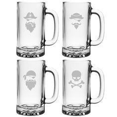 Pirate Faces Pub Beer Mugs