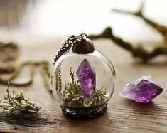 • cute beautiful vintage ball stuff Magic Witch bulbs plants things spells witchcraft spell quartz minerals Paganism mineral amethyst wiccan pagan ritual wicca magik Witchery pagan-wicca-stuff •