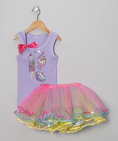 Take a look at this Lavender Ice Cream Party Tank & Tutu - Infant, Toddler & Girls by So Girly & Twirly on #zulily today!