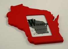Show off your state pride with a handmade Wisconsin 4x6 picture frame. Makes a great gift for a Badger or Packers fan, friend missing home, or any Cheesehead. Wisconsin state shaped picture frame 4x6 by PineconeHome on Etsy, $29.00